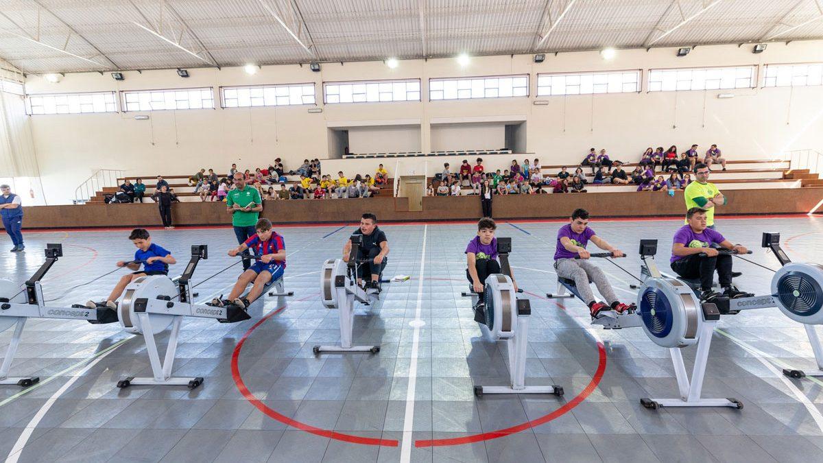 Jovens da Eurocidade Cerveira-Tomiño juntos em Torneio de Remo Indoor