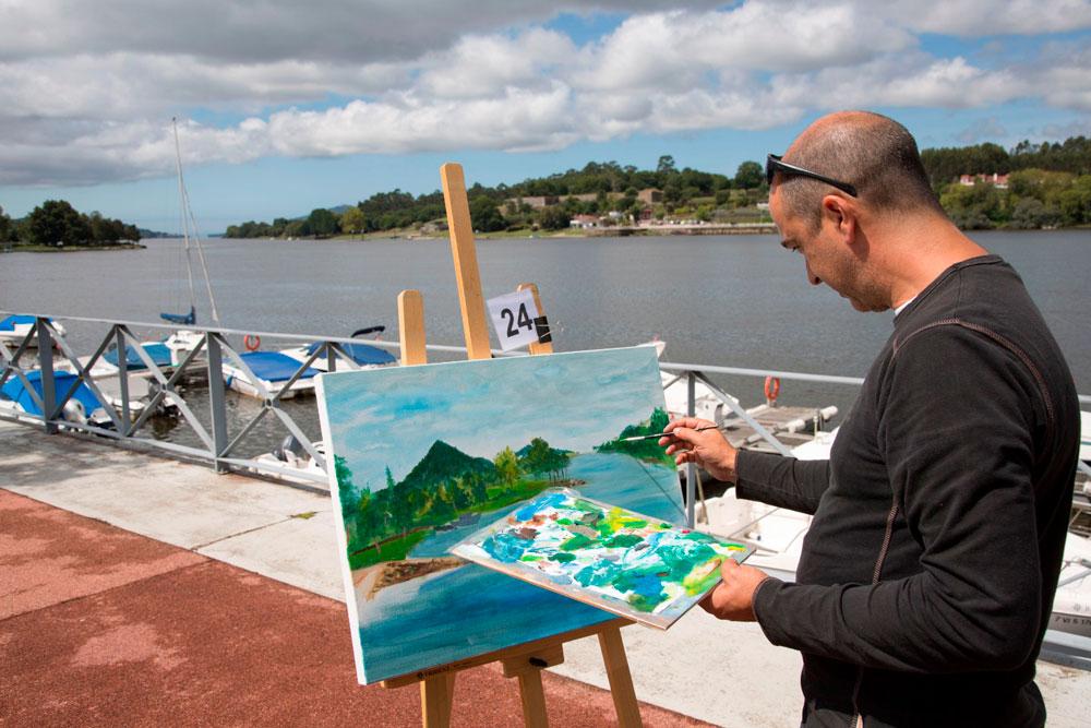 VII Certame de pintura ao aire libre Antonio Fernández - Eurocidade Cerveira-Tomiño