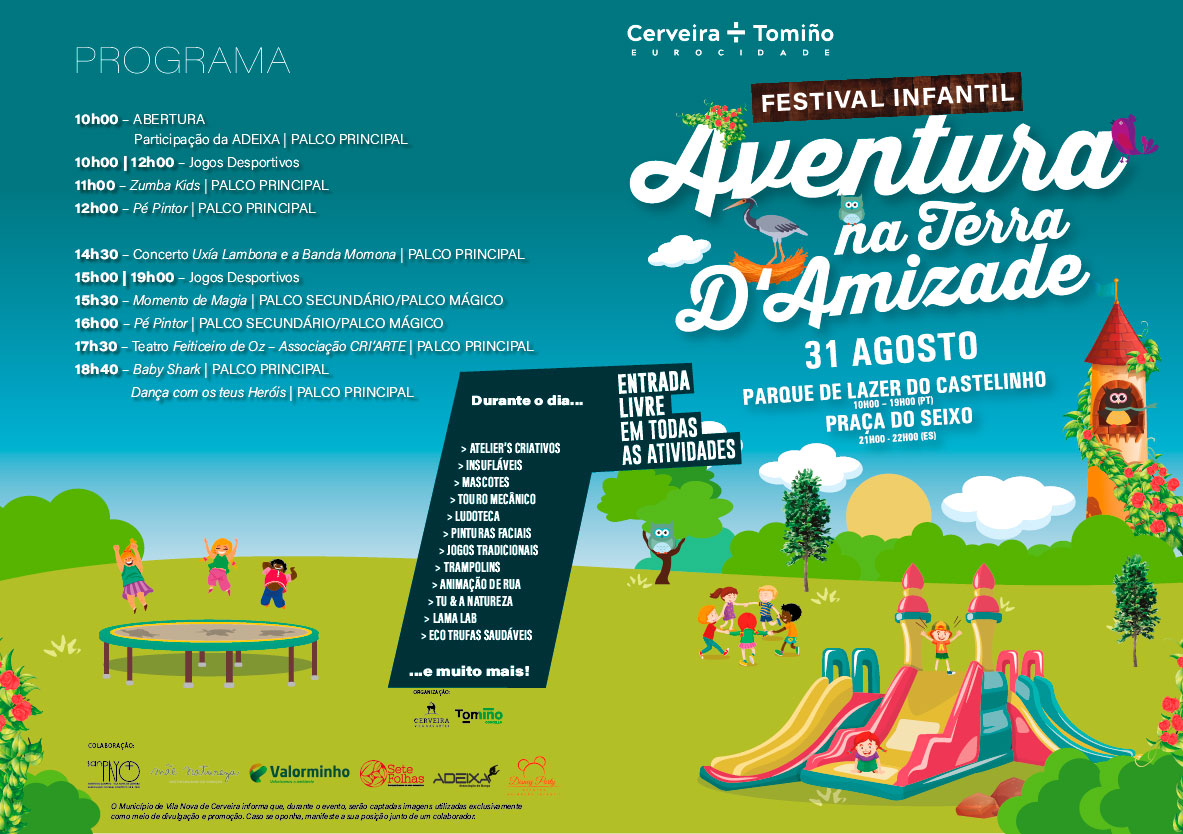 Festival infantil Aventura na Terra d'Amizade - Eurocidade Cerveira-Tomiño