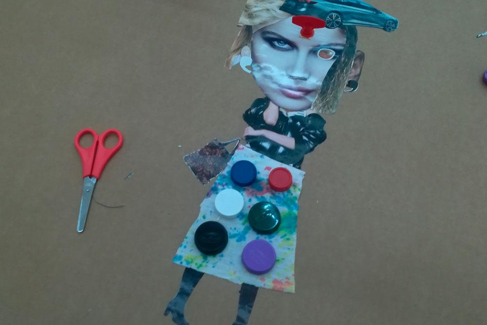 Douscentos escolares de Cerveira e Tomiño participan conxuntamente en obradoiros artísticos con material de refugallo