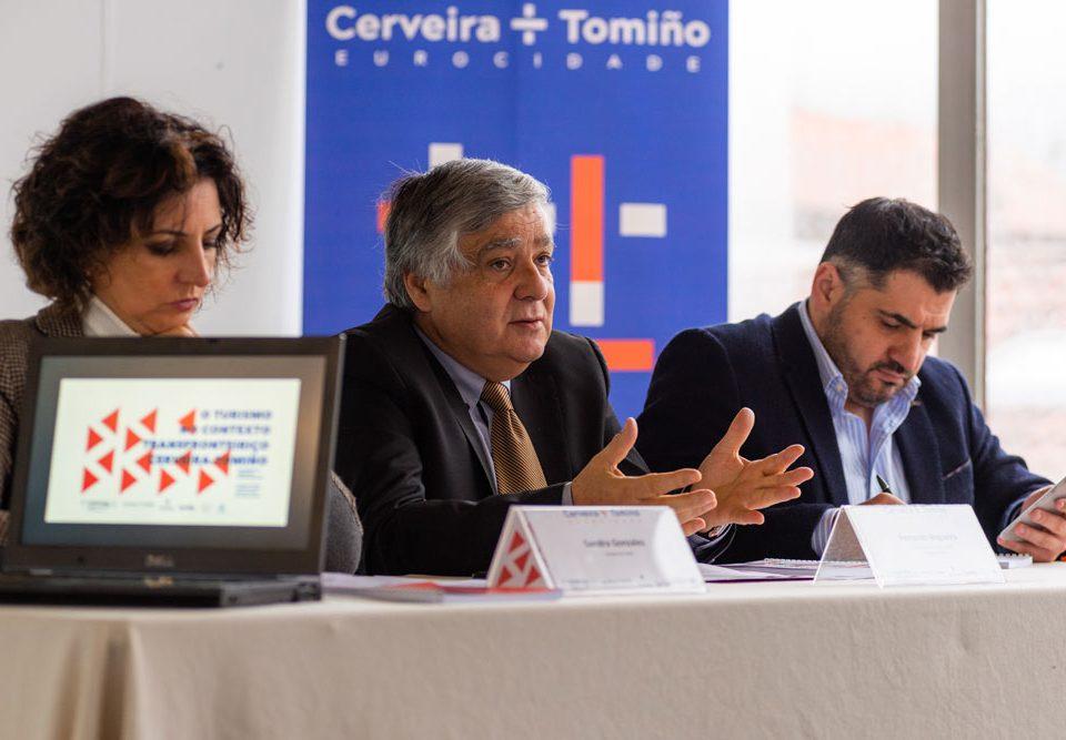 Sandra González, Brito Nogueira e Uxío Benítez