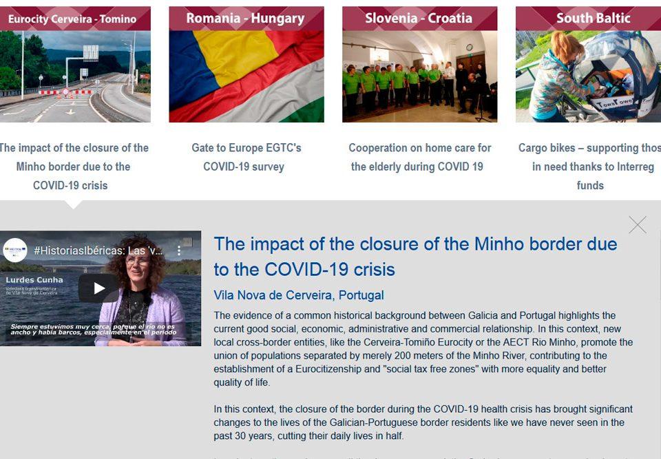 O Comité das Rexións da Unión Europea publica o Informe das Valedoras sobre o impacto do peche da fronteira do Río Miño