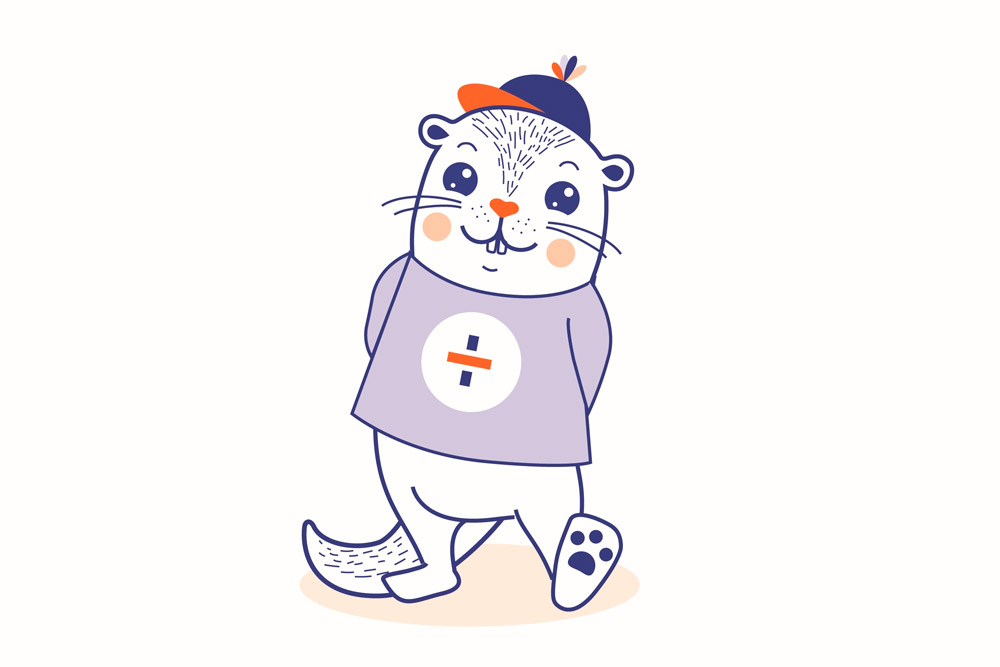 A lontra 'Mizi', elixida mascota do Festival Infantil da Eurocidade Cerveira-Tomiño