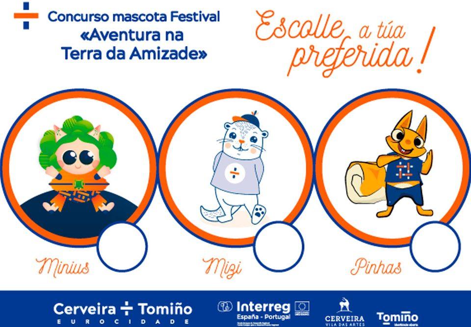 """Tres mil estudantes votan esta semana para elixir a mascota do festival transfronteirizo """"Aventura na Terra da Amizade"""""""