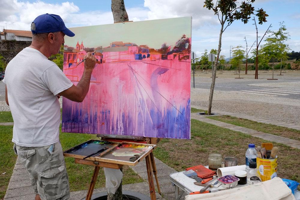 A novena edición do Certame de pintura ao aire libre Antonio Fernández, reunirá a artistas dun e outro lado da fronteira